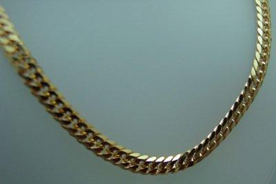 画像2: K18YG.W喜平ネックレス.六面カット 10g 50.60cm