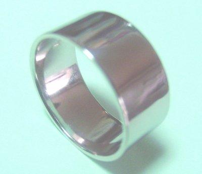 画像1: 【PT900】プラチナリング .結婚指輪.平打形.無地リング.10.0mm幅