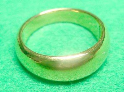 画像3: 純金指輪 K24リング ファッションリング エンゲージリング 黄金色 月形甲丸 無地リング