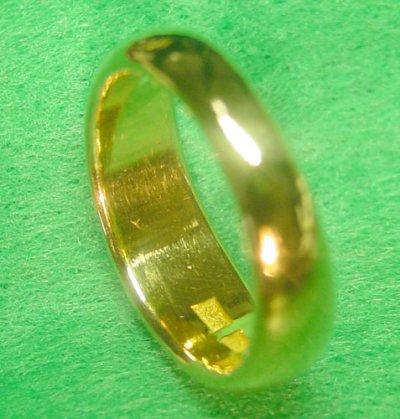 画像2: 純金指輪 K24リング ファッションリング エンゲージリング 黄金色 月形甲丸 無地リング