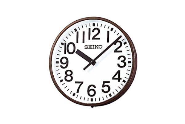 画像1: 屋外時計 SEIKO 室内屋外兼用大型 子時計 内部照明つき 交流式 (1)