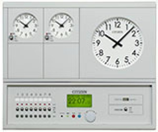 画像1: 設備時計 親時計 CITIZEN プログラム USB メモリー タイマー付 GPS 衛星 長波 JJY電波 受信 子時計 60台接続 2回線 KM-72T-2 P (1)