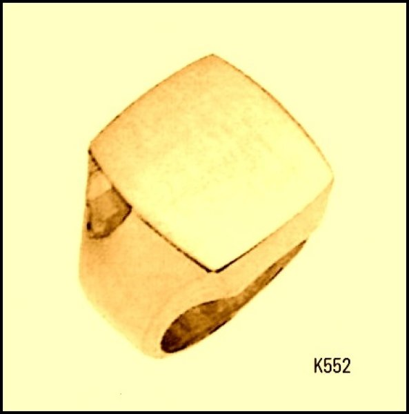 画像1: 【K18YG】三味印台 メンズステータスリング (1)