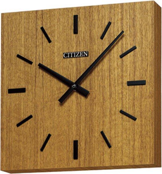 画像1: 設備時計 シチズン 子時計 交流式 木目調角型 壁掛 「受注生産品」 (1)