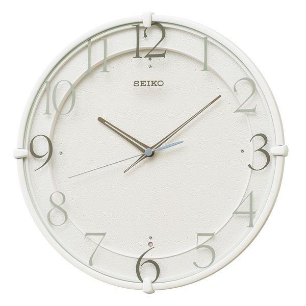 画像1: SEIKO 電波掛け時計 丸型 インテリアクロック  (1)