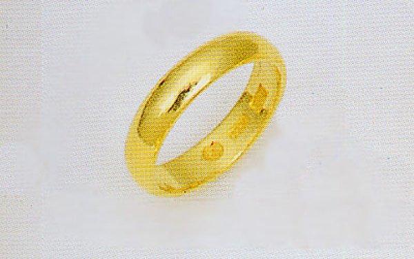 画像1: 純金指輪 K24リング じゅんきんゆびわ 無垢 甲丸 無地リング 結婚指輪 ブライダルリング 4.0mm幅均一 (1)