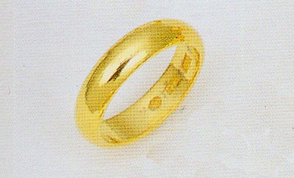 画像1: 結婚指輪 K24指輪  純金リング 無垢 甲丸 無地リング ブライダルリング 4.5mm幅均一 (1)
