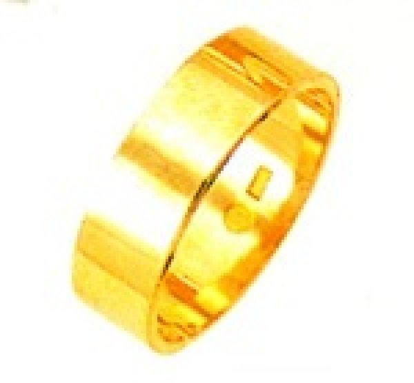 画像1: 【K18YG】平打無地 ブライダルリング 結婚指輪(6.0mm幅)金の指輪 エンゲージリング 送料無料 (1)