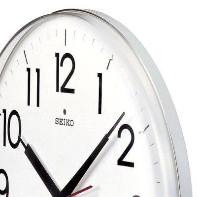 画像1: SEIKO 電波掛け時計 丸型 インテリアクロック