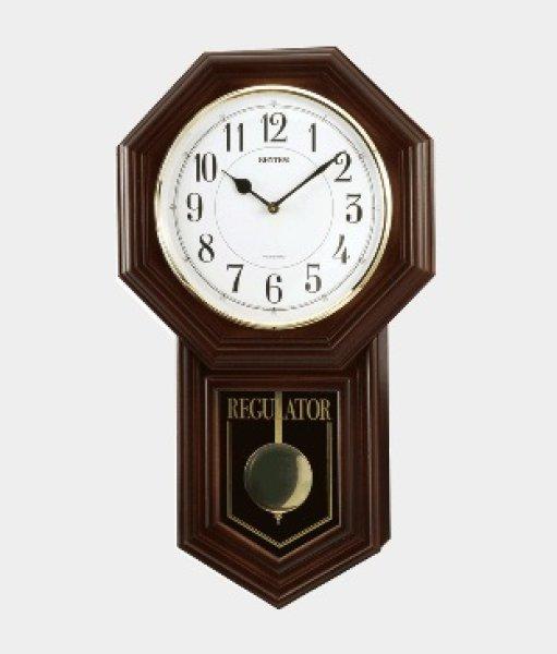 画像1: リズム 報時付 振子時計 ベングラーR クオーツ(23) (1)