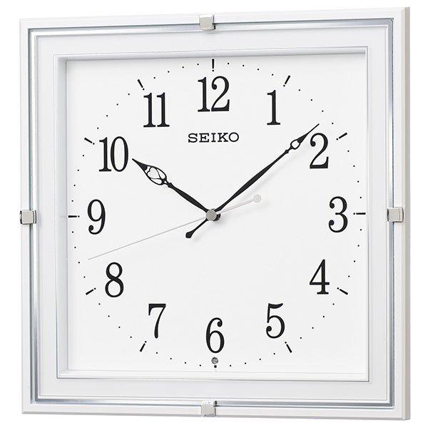 画像1: SEIKO 電波掛け時計 角型 インテリアクロック  (1)