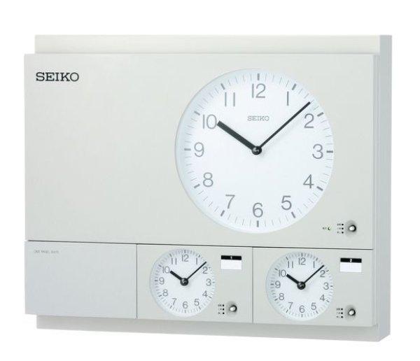 画像1: 設備時計 セイコー 親子時計 交流電源 壁掛型 子時計約60台 FM/長波電波受信式 (1)