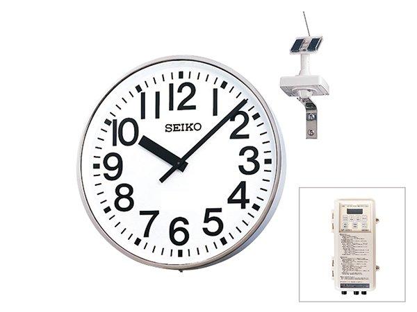 画像1: 屋外時計.大型.壁掛け.アウトドアクロック.ソーラー式.GNSS電波修正 (1)