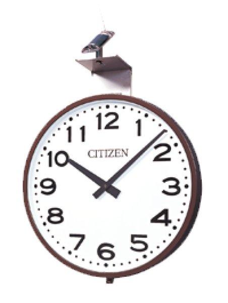 画像1: 屋外設備時計 防水 壁掛け時計 太陽電池 FM電波時計 700mm (受注生産)(260) (1)