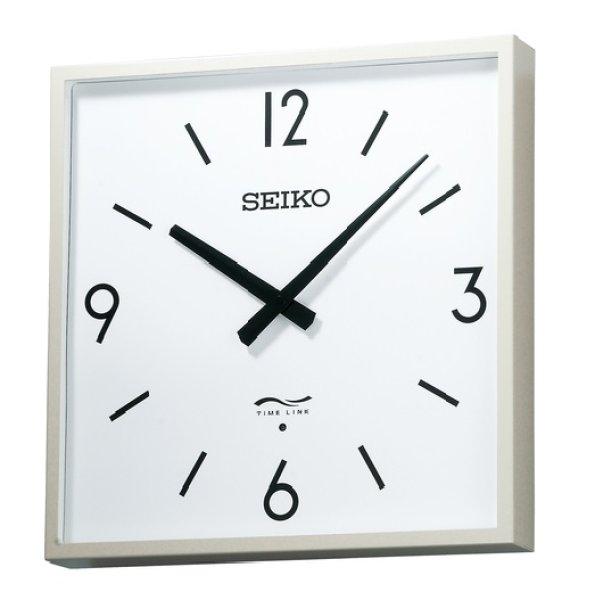 画像1: 設備時計 セイコー タイムリンククロック 角型 リチウム電池式 無線時計 角型子時計 電池式 リチウム電池式 送料無料 (1)