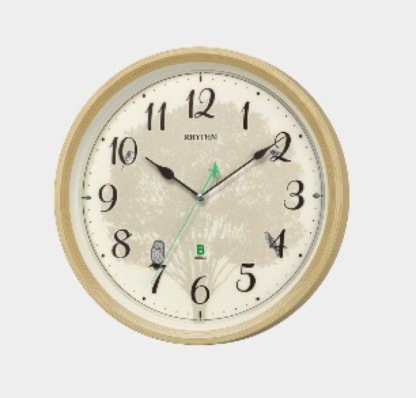 画像1: リズム時計.日本野鳥の会 四季の野鳥 報時掛時計408 (1)