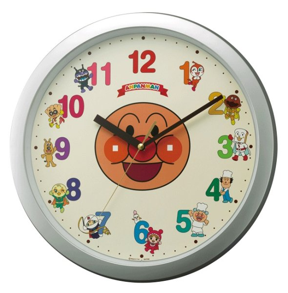 画像1: RHYTHM.アンパンマン.クオーツ掛け時計(6) (1)