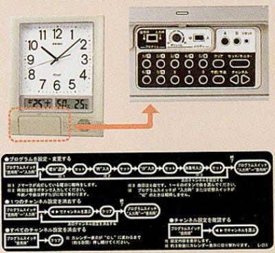 画像1: SEIKO.プログラムクロック.電波掛け時計.チャイムメロディ付(特価品)