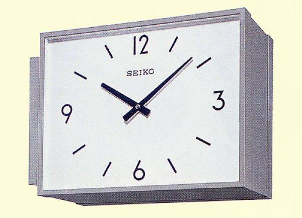 画像1: 設備時計 SEIKO 親子時計 屋内用子時計 .両面時計 壁面ブラケット型 角型 (1)