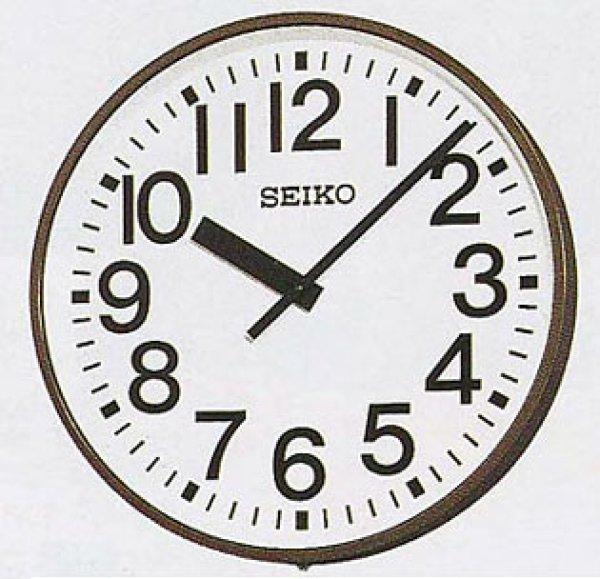 画像1: 屋外時計.内部照明付.壁掛.防水.交流式システム時計 (1)