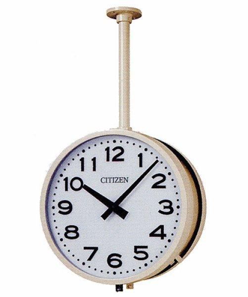 画像1: 設備時計 屋内吊下時計 シチズン 親子時計 交流式 両面時計 内部照明付 子時計 (受注生産品) (1)