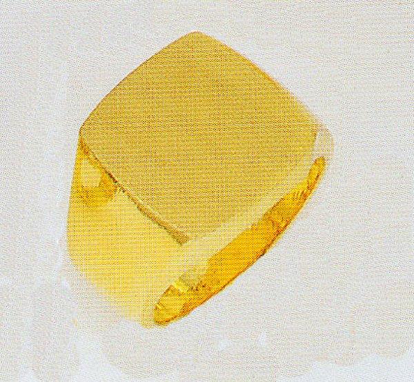 画像1: 純金印台 24K印台リング 三味印台指輪 黄金色 メンズリング ファッションリング (1)