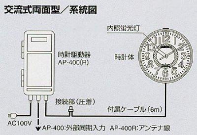 画像1: 屋外時計 大型設備時計 内部照明付 交流式 システム時計 吊り下げ型
