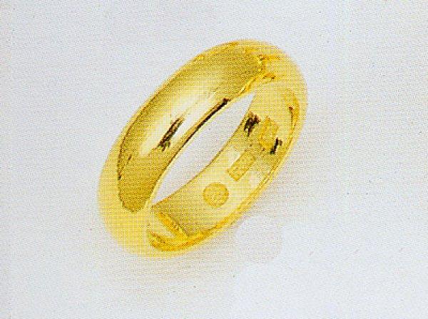 画像1: 純金リング じゅんきんゆびわ K24指輪 金の指輪 甲丸 無地リング 結婚指輪  エンゲージリング 5.0mm幅均一 (1)