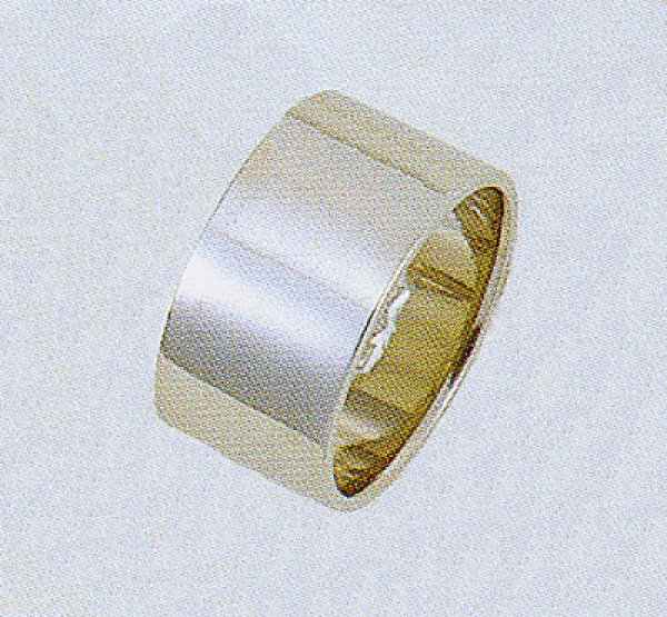 画像1: 【PT900】プラチナリング .結婚指輪.平打形.無地リング.10.0mm幅 (1)