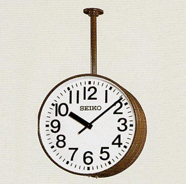 画像1: 屋外時計 大型設備時計 内部照明付 交流式 システム時計 吊り下げ型 (1)
